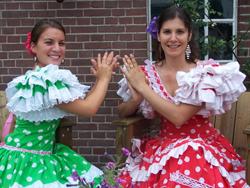 Spaanse danseressen Janini en Laura